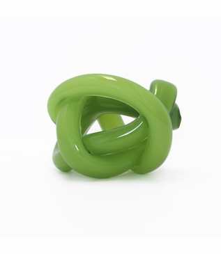 Tangled Glass Knot | Opaque Green