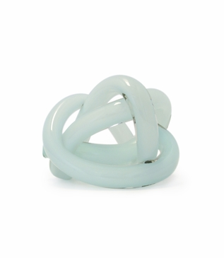 Tangled Glass Knot | Opaque Seafoam