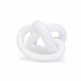 Tangled Glass Knot | Opaque White