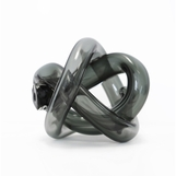 Tangled Glass Knot | Smoke