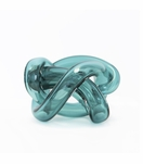 Tangled Glass Knot | Teal