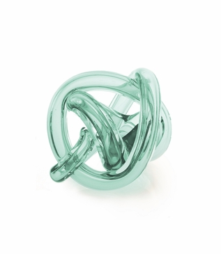Tangled Glass Knot   Turquoise