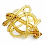 Tangled Large Glass Knot | Amber