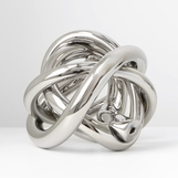 Tangled Large Glass Knot | Silver