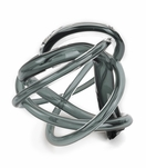 Tangled Large Glass Knot | Smoke