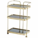 Taverna Brass Bar Cart