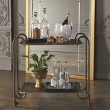 Thandie Bronze Bar Cart