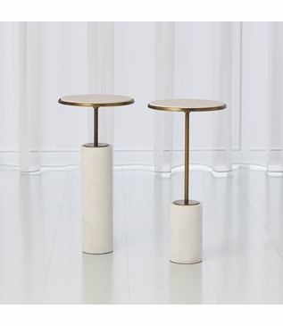 Tobias Marble Drink Tables | Bronze