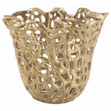 Toile Gold Ceramic Container