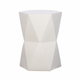 Tonto Faceted Ceramic Stools | White