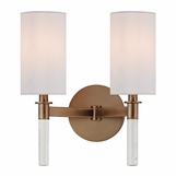 Torino Double Sconce | Brushed Bronze