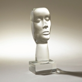 Transpero Glass Visage Sculpture