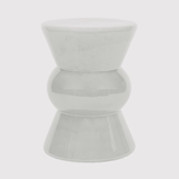 Tropicana Ceramic Stool | White