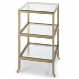 Troy Side Table | Brass
