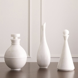 Turu Marble Bottles | White