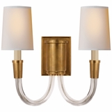 Vance Double Sconce | Brass