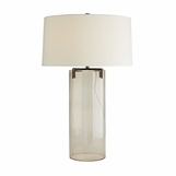 Vane Glass Table Lamp | Brown Nickel