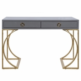 Vanna Lacquer Desk | Grey