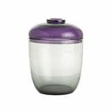 Vasari Glass Jar | Purple