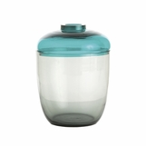 Vasari Glass Jar | Teal
