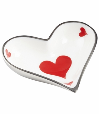 Vegas Nickel Trinket Tray | Heart