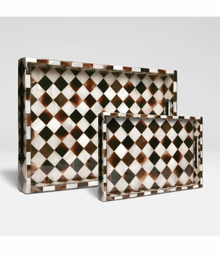 Velma Horn Checkered Trays