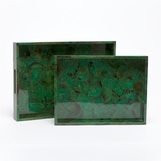 Verdi Large Tray | Green Shell