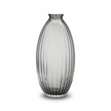 Vestal Ribbed Vase | Grey