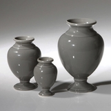 Vesuvius Mini Vases Set | Grey