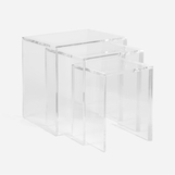 Victoria Lucite Nesting Tables