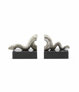 Viper Bookends | Silver