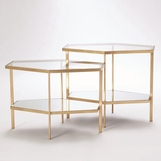 Virgil Hex Tables | Gold Leaf