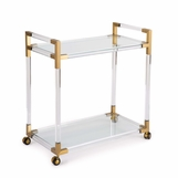 Waldorf Lucite Bar Cart