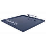 Wallace Lacquered Tray   Blue