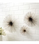 Wallflowers Wall Sculptures Set | Chrome