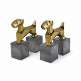 Watchdog Bookends | Brass