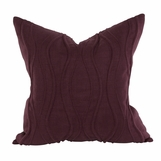 Wavery Linen Pillows | Plum