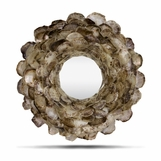 Wavy Shell Mirror | Dark Oyster