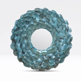 Wavy Shell Mirror | Turquoise Oyster