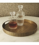 Webster Round Tray | Brass