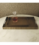 Webster Rectangular Trays | Brass