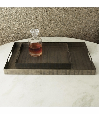 Webster Rectangular Trays | Nickel
