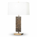 Weiss Textured Table Lamp | Brass