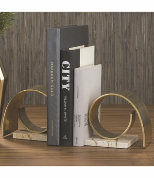 Whirl Brass Bookends