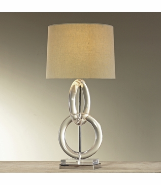 Whorls Lucite Table Lamp