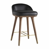 Willard Leather Bar Stool | Counter Height
