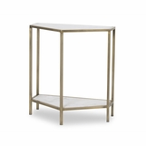 Willis Marble Console Table | Brass