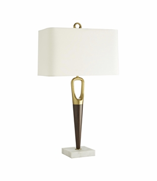 Wilton Wood & Brass Table Lamp
