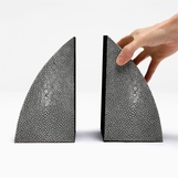 "Windswept ""Shagreen"" Bookends"