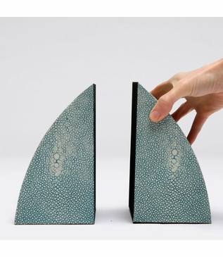 """Windswept """"Shagreen"""" Bookends 